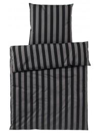 Elegante rúmföt Bloc stripe, svört 5601/9